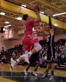 Sophomore Luke Gohmann shoots a layup.