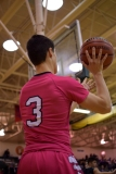 Sophomore Jake Canter passes the ball in bounds.