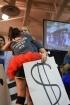 Junior Sydney LaDuke hugs senior Kylie Wheeler.