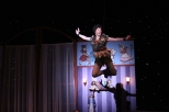 Junior Brooklyn Ivey as Peter Pan floats about the Darling nursery.