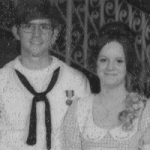 Senior Chief Michael Beal poses with his wife, Karen, at their school's prom. Photo submitted by NJROTC Instructor Senior Chief Michael Beal.