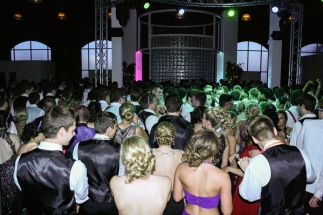 "FC prom participants do the ""Cupid shuffle"" by Cupid. Photo by Shelby Pennington."