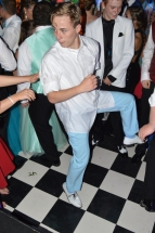"Senior Bryant Langdon dances to ""Cotton Eye Joe."" Photo by Sarah Strain."