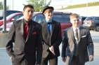 Juniors Matt Stepp, Bishop Hunter and Nick Kruer arrive to prom. Photo by Sarah Strain.