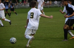Senior Will Haley moves on the ball.