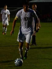 Senior Brodey Zink scores on a penalty kick giving FC a 1-0 lead.