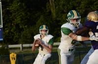 Junior Matthew Weimer prepares to pass the ball. Photo by Braden Schroeder