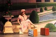 Senior Sarah Denison (Eileen Evergreen) takes a seat while wait on her husband.