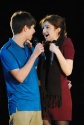 """Junior Jordan Burger and sophomore Elizabeth Hallal sing """"It Takes Two"""" from the play """"Into the Woods."""""""