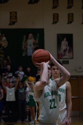 Junior Brendon Hobson shoots a free throw.