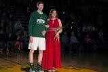 Junior Evan Nichols escorts senior Hannah Becht.