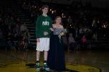 Senior Trevor Apple escorts senior Gracie Horvath.