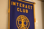 The Interact Club has a flag hangs in the MPR for their semi-monthly meetings.