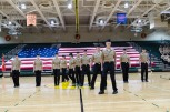 Unarmed Exhibition Drill team practices prior to the AMI ceremony that will take place later in the evening. Photo by Robert Wormley