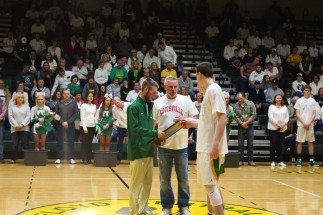 Senior Cameron Graves with father Gary Graves. Photo by Kaitlyn Erdman.