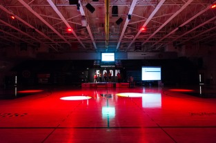 The main gym awaits dancers prior to FCDM. Photo by Robert Wormley.
