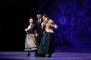 Junior Sam Moore dances with Hallal and senior Brooklyn Ivey.