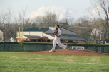 Junior Alex Lozado pitches against Jeffersonville.