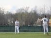 Sophomore Kellen Northam tosses the ball to junior Alex Lozado.