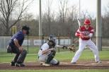 Senior Jon Cato catches a low strike.