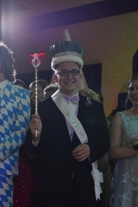 Senior Jacob Mussell is crowned 2017 prom king. Photos by Kiley Swain.