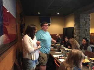 Treasurer and junior Brenna McFerran and junior Joshua Mussell talk about running for office for next years Interact Club President.