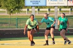 Senior Mackenzie Hashem scores the last touchdown of the game. Photo by Taylor Watt.