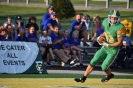 Senior Jason Cundiff celebrates yet another touchdown pass for the Floyd Central football team. Photo by Tori Roberts.