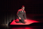 """Senior Mitchell Lewis sings """"Raise a Little Hell."""" Photo by Phoebe Bierman."""