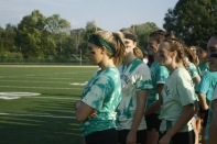 Senior girls watch the game intently. Photo by Shelby Pennington.