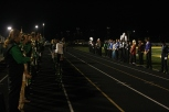 Field commanders and seniors from all schools line up to receive awards. Awards are sponsored by families and businesses alike in honor of FC band members.