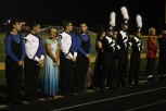 Students from Silver Creek High School stand at attention during the awards ceremony.