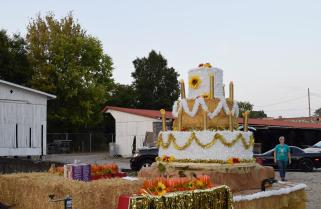 Everyone packs up the float for the night, feeling positive. The Harvest Homecoming committee will have a second float in the parade next Saturday.