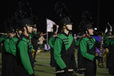 The FC marching band and colorguard finishes their Ascension performance. The band has beaten many other bands in the state in competition, being recognized with different awards for their performances. Photo by Tori Roberts.