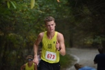 Junior Ross Ellis keeps his pace during the first quarter of the race. Although a Floyd runner did not cross the finish line first, Ellis finished in third place overall. Photo by Tori Roberts.