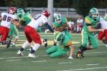 Senior Jason Cundiff tricks the defensive lineman on a play to advance the ball. Photo by Taylor Watt.
