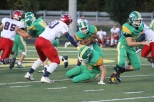 Senior Jason Cundiff tricks the defensive lineman on a play to advance the ball. Photo by Taylor Watt.