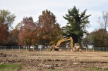 The construction lot at what used to be the main building of Slate Run Elementary School is bulldozed completely flat. The new building promises a better environment for the kids who reside at the elementary. Photo by Tori Roberts.
