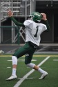Senior Matt Weimer throws a pass to a teammate during practice. The team will play Columbus East tonight for the sectional championship at 7 p.m. Photo by Tori Roberts.