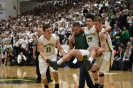 Junior Cobie Barnes is carried out by senior teammates Braxton Cerqueira and Collin Braswell during overtime. FC already had to play without injured senior Brendon Hobson, but still ended up winning 49-47. Photo by Tori Roberts.