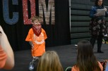 Riley patient Elijah Ahlgren dances while his mom talks about his Riley experience.