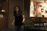 """Senior Elizabeth Hallal sings the song """"All That Matters"""" from the show Finding Neverland. """"My favorite thing about theatre is storytelling and the way I get to connect to a character,"""" said Hallal. Photo by Grace Allen."""
