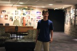 Sophomore Hunter Marlow sings his audition song for Matilda in hopes of getting pointers from the upperclassmen . Photo by Grace Allen.