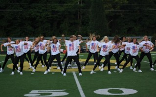 FC Dazzlers, the 23 time National Champion winning dance team, perform at halftime on Aug. 24. Photo by Sophia Perigo.