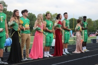 The 2018 Homecoming court waits anxiously to hear who this year's Homecoming Queen will be. Photo by Grace Allen.