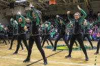 The Floyd Central dazzler team shows off their routine as they prepare to travel to Florida soon for Nationals. Photo by Grace Allen.