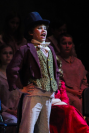 The Artful Dodger, fifth grader Zander Essex, sings his solo during a run of FC Theatre Arts production of Oliver! Photo by Mary Ficker.