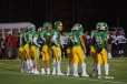 The starting line up take position before the game starts at the Bedford game on Friday. Photo by Kate Zuverink.
