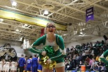Junior Kassi Ehalt cheers a chant at the Castle game. Photo by Kate Zuverink.