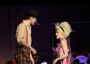 """The most recent show that FC has put on was Gypsy. Seniors Nick Landrum and Ruthie Belza performed for the last time at FC. """"This show was potentially my last, so it is very important to me. The show didn't get its chance to close, Gypsy had a powerful message, and it's unfortunate more people couldn't come see it,"""" said Landrum. Photo by Sophia Perigo."""